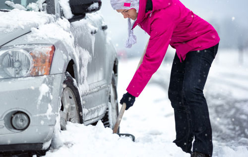 Tips on surviving a blizzard while on the road.