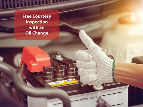Free Courtesy Inspection with an Oil Change offer